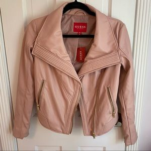 🌱2 for $75🌱 Pink Guess Faux Leather Jacket